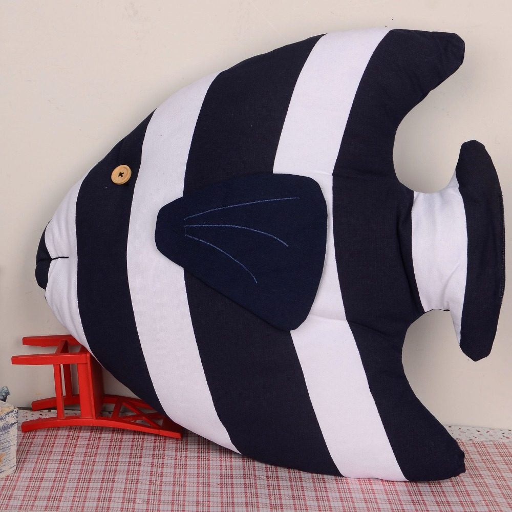 45 45 40CM Original Fish Toy Decor for Kids Room Gift for Kids Decorative Pillow Cushion