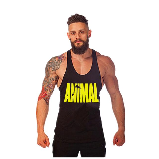 Последним животных ситец тренажерный зал майка бодибилдинг и фитнес-одежды мышцы ...