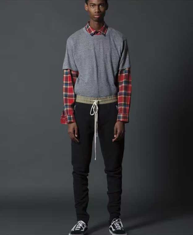 HIPFANDI Newest Hip Hop Men Fear Of God Fog Black Grey Justin Bieber Fog Zipper Harem Pants Fear Of God Zippers Pants Jogger