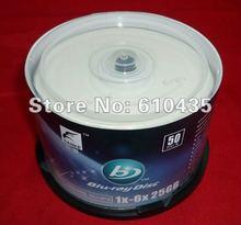 Free shipping BD-R  blu-ray disk 1X-6X 25GB 50pcs/lot(China (Mainland))