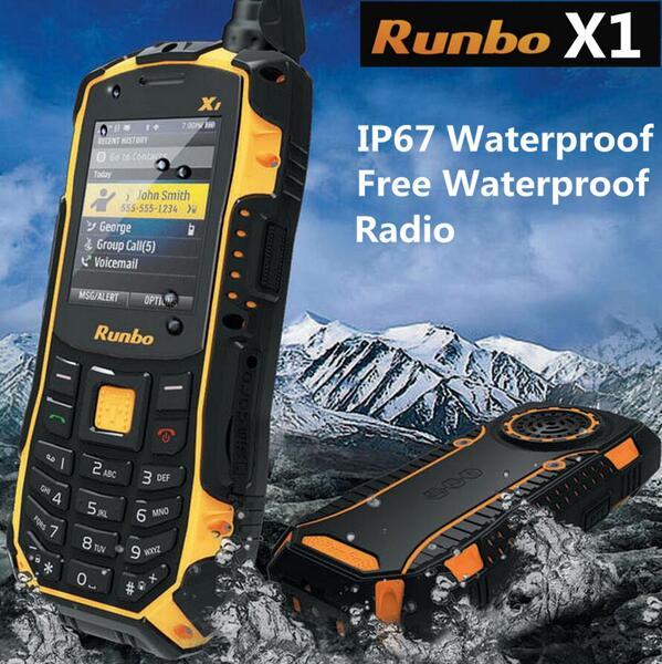 100% original Runbo x1 Force ip68 Walkie Talkie Waterproof Rugged mobile Phone 1750mAH UHF 3000meters Russian keyboard Q5 X6 H1(China (Mainland))