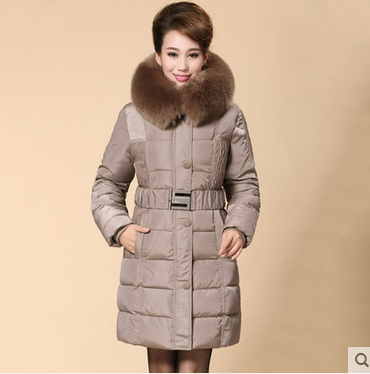 Quinquagenarian womens winter cotton-padded jacket female slim wadded jacket mother medium-long thickening outerwear coat LW021Одежда и ак�е��уары<br><br><br>Aliexpress