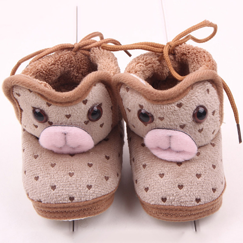 Baby Girl Infant Winter Warm Thicken Boots Coral Fleece Soft Sole Non-slip Shoes YRD<br><br>Aliexpress