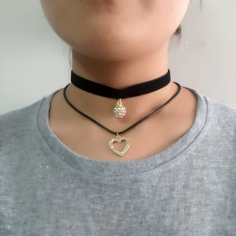 3 Style Trendy Black Lace Choker Collier Ethnique Women Accessories Gothic Net Crystal Crown Choker Necklace Collar Jewelry