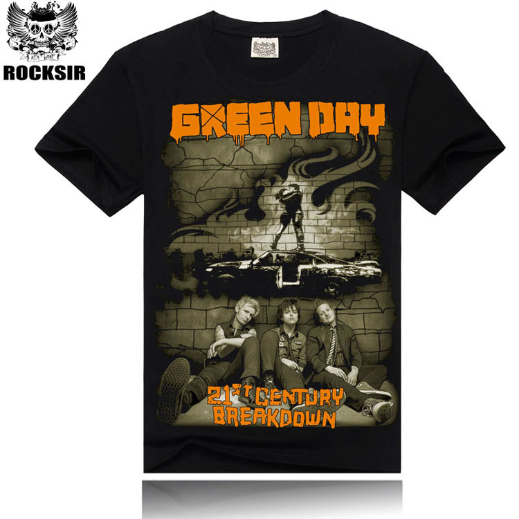 Cotton fashion Green Day rock o-neck men t-shirt,New style printed band casual t shirt men,tops tees men's tshirt.160038(China (Mainland))