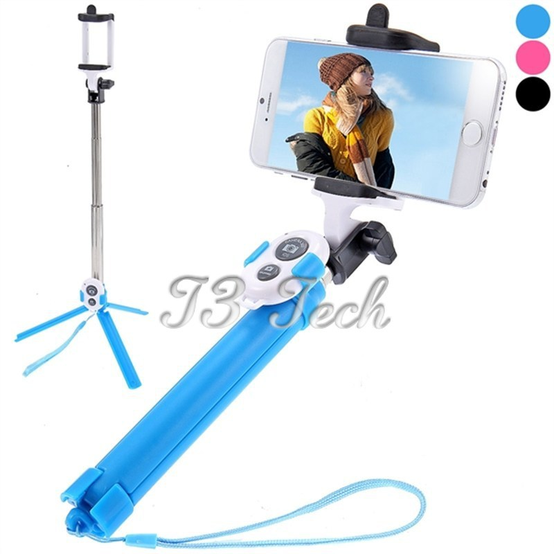 buy extendable bluetooth selfie stick with bluetooth remote. Black Bedroom Furniture Sets. Home Design Ideas