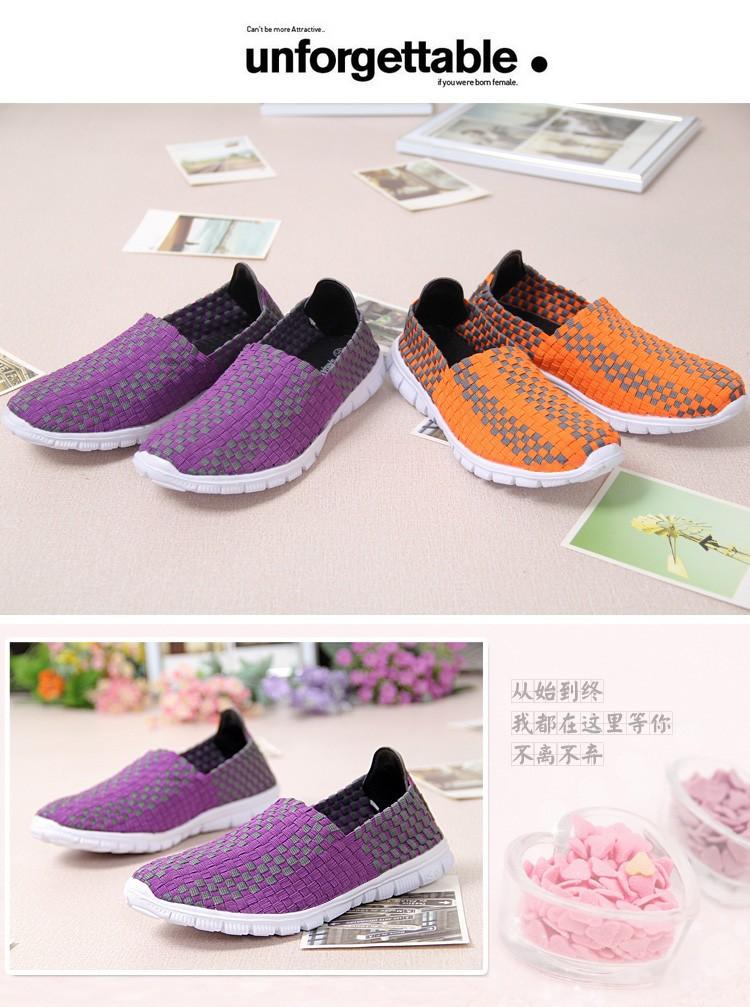 HKR 2015 Осень Дышащая Мужская Мода квартиры женщины плоские Туфли, свет плоским loafer обувь плоские ткать обувь для женщин 9-3