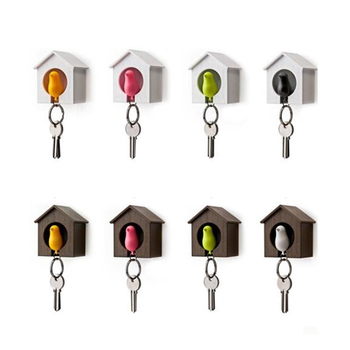 1pcs Bird House Shape Keyring Key Chain Key Holder With Whistle H28414