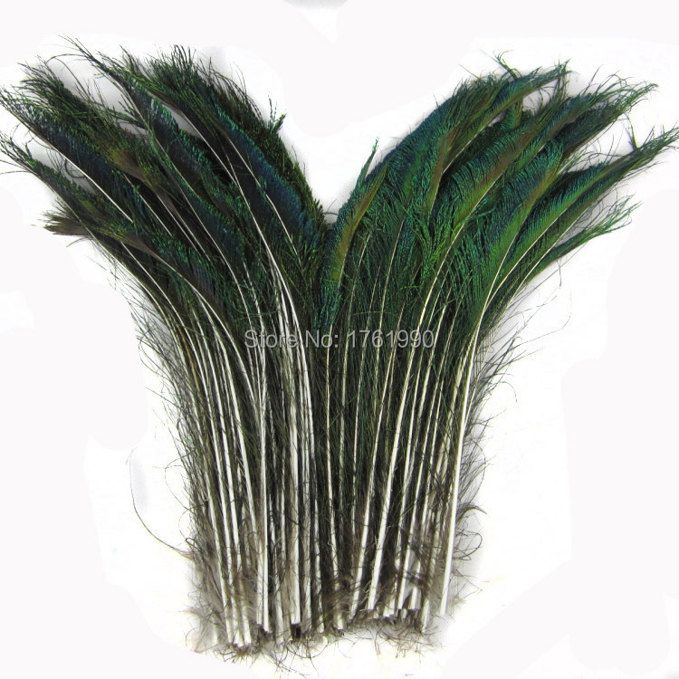 Wholesale 50pcs a lot Natural Peacock Sword Feathers10-12inches/25-30cm for party decoration KQ-2(China (Mainland))