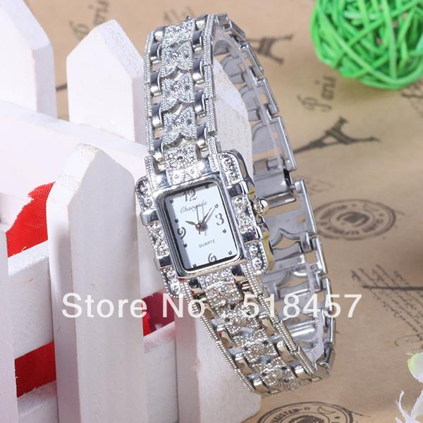 2013 Newest Branded Fashion Watch Women Elegant Lady Quartz Alloy Strap Diamond Face Hot Sale Watches(China (Mainland))