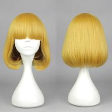 OHCOS Prison School Character Midorikawa Hana 35CM Short Golden Yellow Hair Cosplay Wig(China (Mainland))