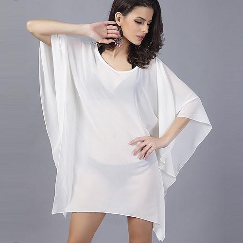 Белая прозрачная блузка с доставкой