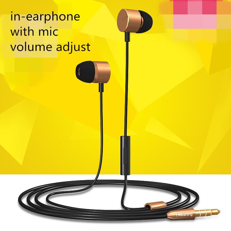 hifi freestyle mp3 sport headset lot for vivo razer earphone for xiaomi mp3 earpod headset golden in-earphone mobile for samsung(China (Mainland))