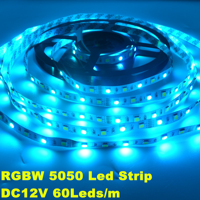 5M 60Leds/M SMD 5050 LED Strip Flexible Light RGBW RGBWW DC12V Waterproof OR Non waterproof 300LEDS Tape Indoor for decoration(China (Mainland))
