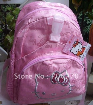 NEW Wholesale  Small Backpacks Hello Kitty dark pink zippers stylish for Children toddler girls#013