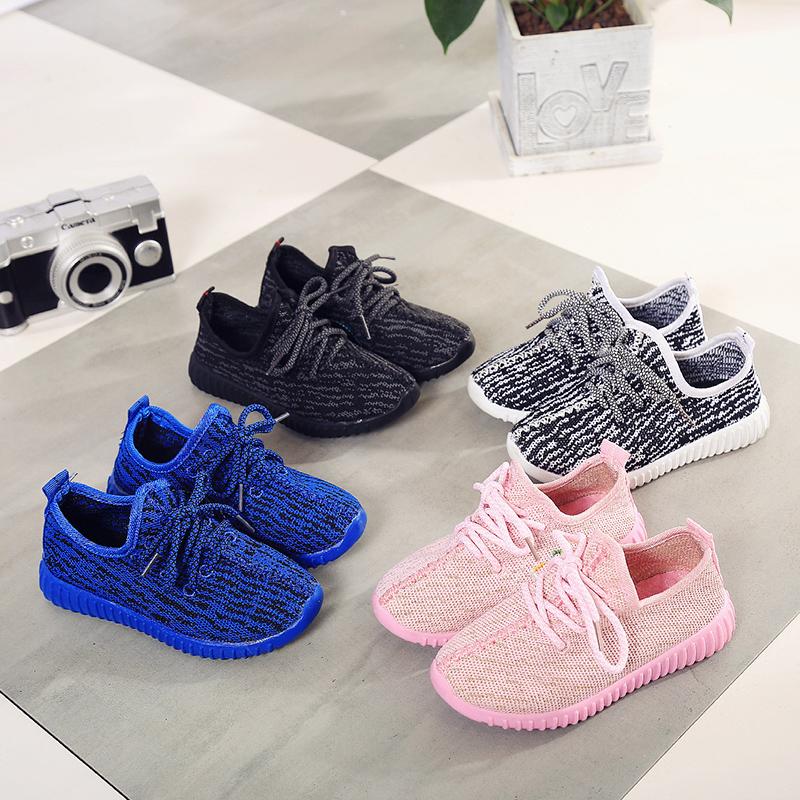 Children Sneakers Yeezy Shoes Girls Kids Roller Shoes Baby Boys Sneakers Children Heelys Wheelie Kids Running Shoes All Black(China (Mainland))
