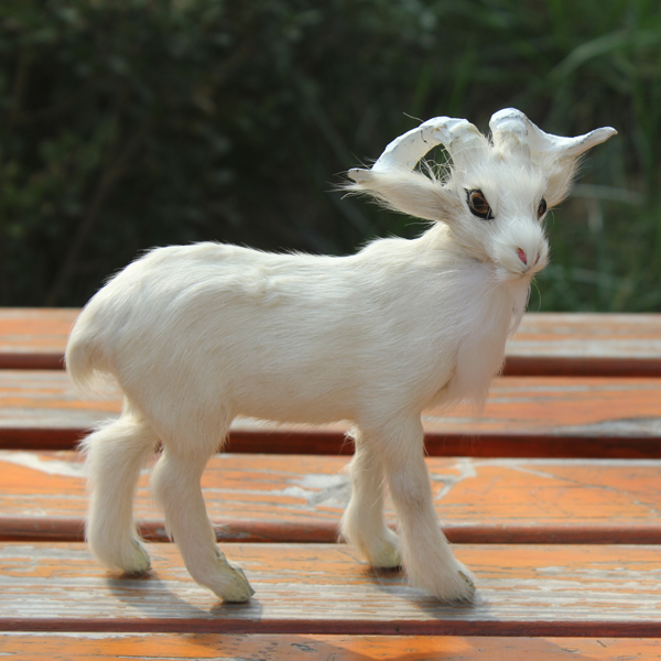 Funny gifts for children soft toys furry realistic plush goat(China (Mainland))