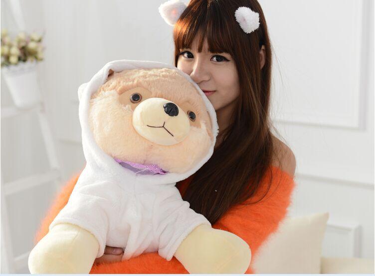 big plush Pomeranian toy lovely white clothes Pomeranian dog doll gift about 50cm<br><br>Aliexpress