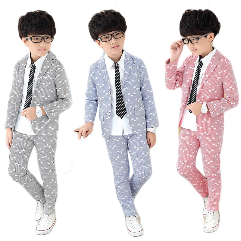 2PCS/5-12Years/Spring Autumn Gentleman Suit Shirt+pants Baby Boys Clothes For Kids Designer Childrens Clothing Set(China (Mainland))