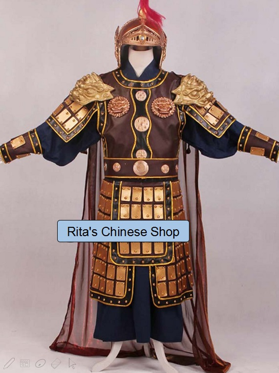 The General Armour Stage Show Performance TV Play Use Costume Hanfu Mens CostumeОдежда и ак�е��уары<br><br><br>Aliexpress