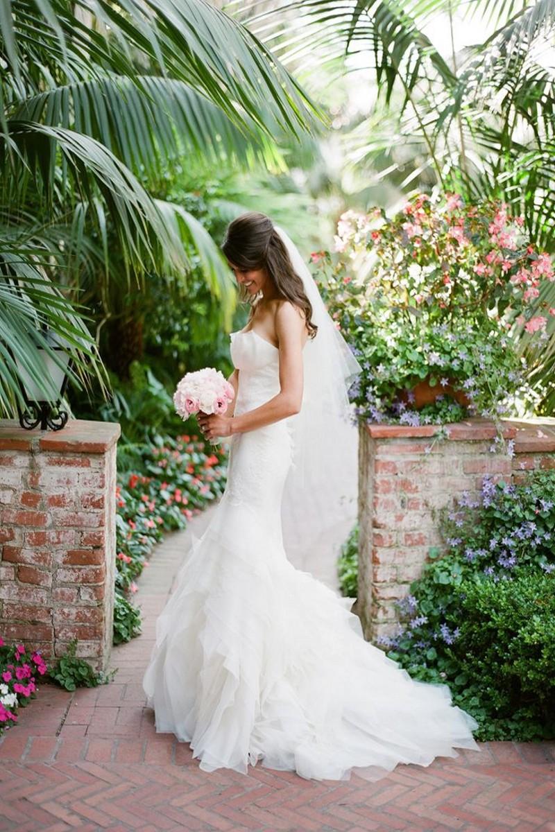 Чистый белый романтический кружева русалка свадебное платье 2016 vestidos де noiva суд поезд свадебное платье с оборками Casamento