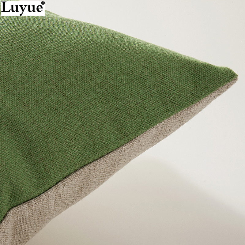 45 45cm Oriental pure color red yellow green blue purple line cotton pillow sofa cushion pillow