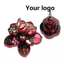 Logo Custom Wholesale Price 100 Set Make Up Kit  Miss Rose Opens As A Rose For Eyeshadow / Lip gloss/ Brush Palette Makeup Set(China (Mainland))