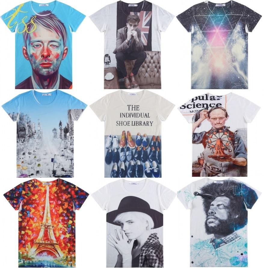 Мужская футболка 3D 2015 t /t tshirt 2015 new fashion женская футболка other 2015 3d loose batwing harajuku tshirt t a50