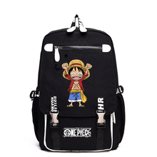 Fashion Cartoon Printing Backpack Men&Boies School Bag Durable Canvas Schoolbag ONE PIECE Animation Cheap Casual Rucksack