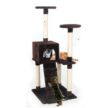 Domestic Delivery Cat Scratchers Toy Wood Climbing Tree Cat Jumping Toy with Ladder Climbing Frame Cat Furniture Scratching Post(China (Mainland))