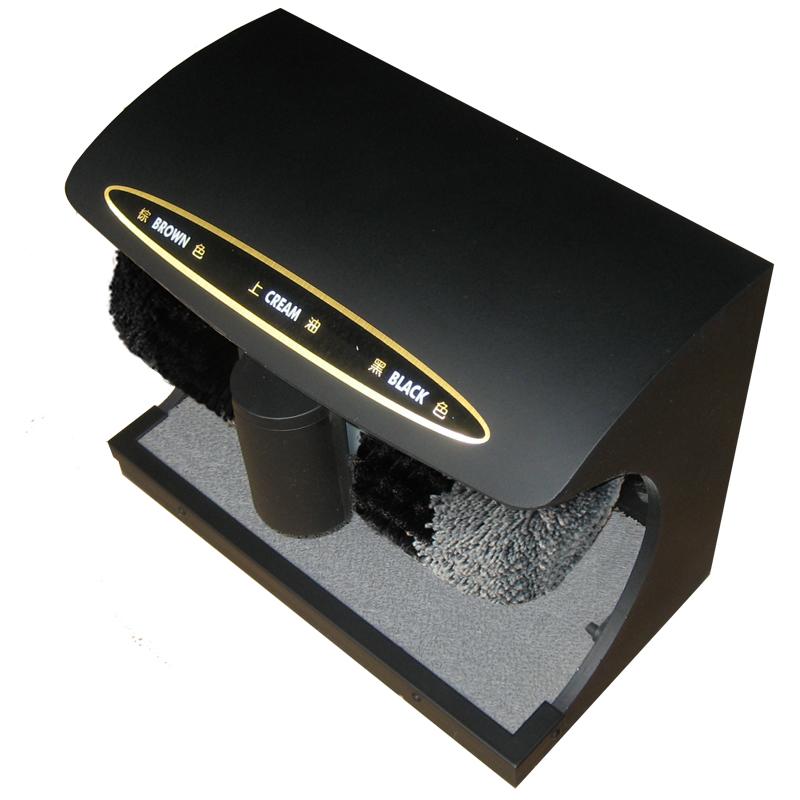 Free shipping Automatic Induction Shoe Polisher Machine Household Brush(China (Mainland))