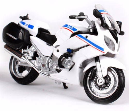 1:18 Motocycle Mannequin White Yamaha FJR 1300A Police Racing Moto Diecast Bikes Kids Birthday Present Collections