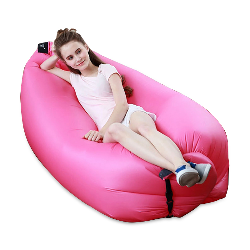 Portable Waterproof Fast Inflatable Sofa Air Sofa Lazy Sleeping Inflatable Bed Bag For Camping Hiking Travel Hangout Beach(China (Mainland))