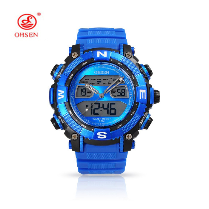 ohsen brand s silicone sport watches high quality 30m