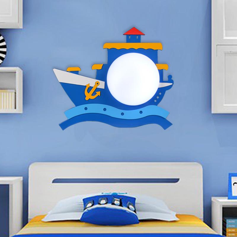 Piratenschip kinderkamer slaapkamer bedlampje wandlamp wandlamp ...
