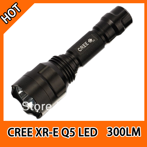 best sale Ultrafire C8 CREE XR-E Q5 LED Aluminum flashlight/LED Torch high power with 18650 rechargeable battery five modes(China (Mainland))