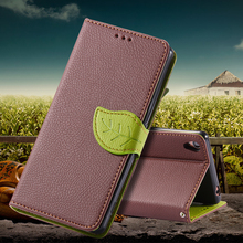 Sony Z3 Leather Flip Cases Fashion Leaf Buckle Card Slot Wallet Case Cover Xperia D6603 D6643 D6653 D6616 D6633 - FlovemeOfficial Store store