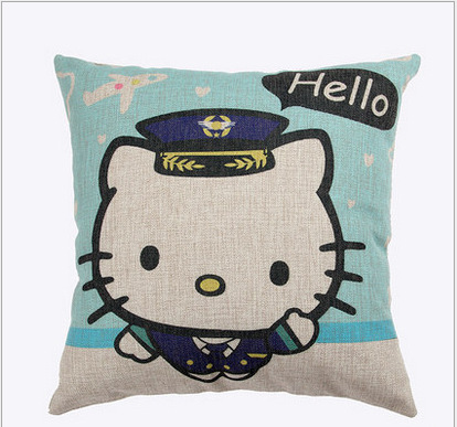 Clever Colored Hello kitty patterns cotton linen comfort kids bedding sets pillowcase new kids gift pillow