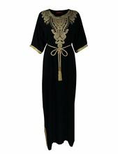 Women islamic clothing Long Dubai Jalabiya Dress moroccan Kaftan Caftan Islamic Abaya Turkish fashion Muslim dress arab robe1605(China (Mainland))