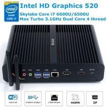 Buy Skylake Core i7 Mini PC Windows 10 Linux 6600U 6500U Intel HD Graphics 520 Fanless Micro Gaming Computer Nettop 4K DP HDMI HTPC for $337.29 in AliExpress store