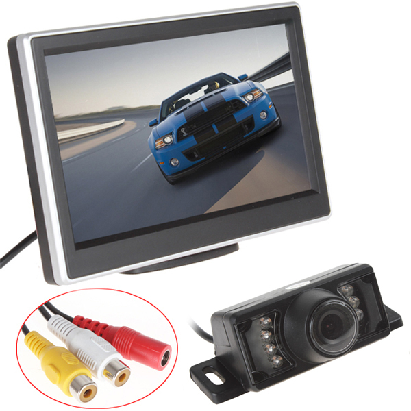 5 Inch TFT LCD Screen HD Panel Color Car Rear View Camera With Monitor + 7 IR Lights Night Vision Reversing Backup Car Camera(China (Mainland))