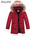 Kızlar Aşağı Coat Ile Kızlar Için 2016 Kış Ceket Gerçek kürk Uzun Sıcak Kış Coat Kalın Çocuk Beyaz Ördek Aşağı OUMU254