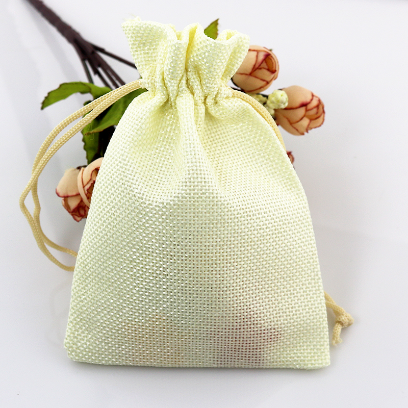 12colors Can Pick 50pcs 7*9cm Jute Bag Drawstring Burlap Bags Gift Candy Beads Bags For Handmade Soap Storage/ Wedding Decor(China (Mainland))