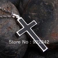 Pure titanium jesus cross necklace male radiation-resistant pendant female accessories diy engraving necklace