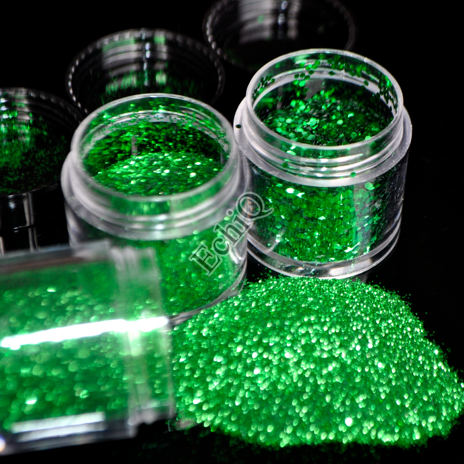 Dark Green Nail Art Glitter 3D Hexagon Shape Sequins Acrylic Powder Dust for Nail Body Craft Decoration(China (Mainland))