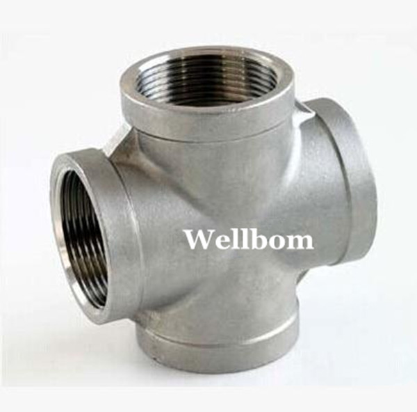 "New Stainless Steel 304 Cross - 1/2""BSP, Homebrew Hardware, Pump fitting(China (Mainland))"