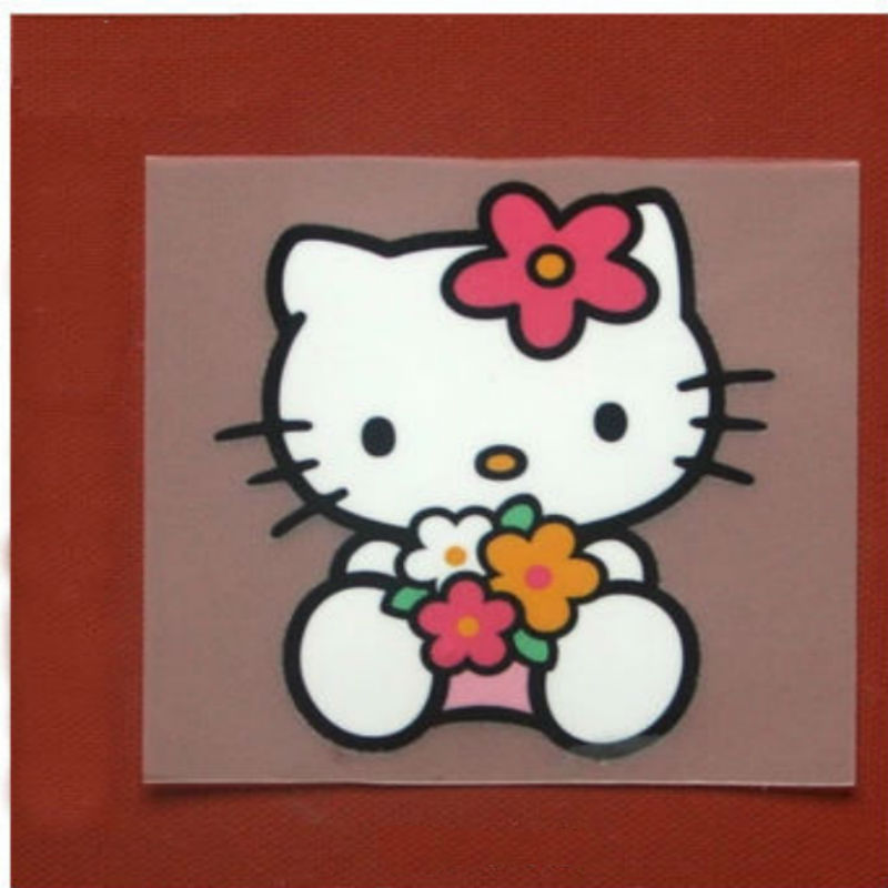 S54 Waterproof canvas laundry paste HELLOKITTY prints stock clothing thermal transfer offset transfer stickers applique patches(China (Mainland))