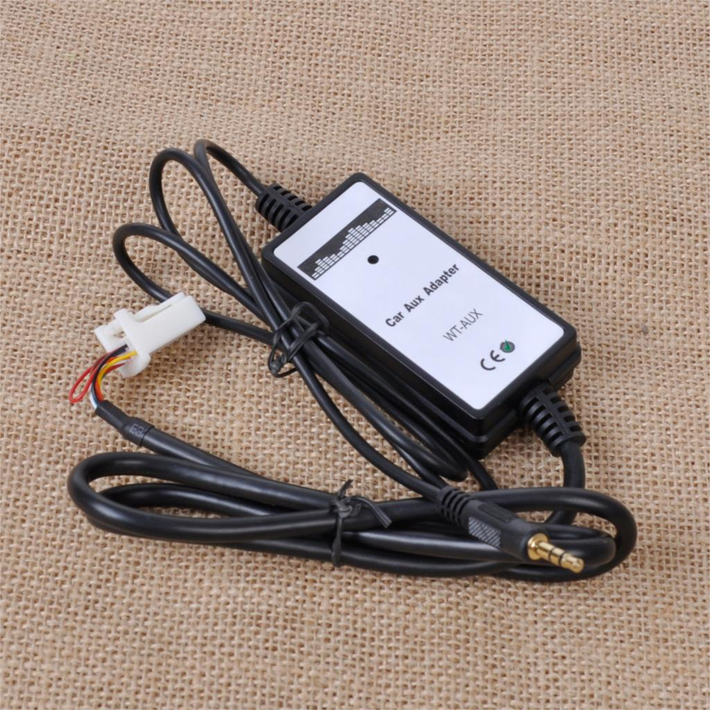 Tracking# 1x New Car Music CD Interface Adapter Audio 3.5mm AUX Input Cable 6+6Pin Connector for Toyota Camry Corolla RAV4 Lexus<br><br>Aliexpress