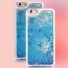 Buy LOVECOM Hot Transparent Clear Phone Case Glitter Stars Dynamic Liquid Quicksand Hard Case Cover iPhone 6 6S for $1.49 in AliExpress store