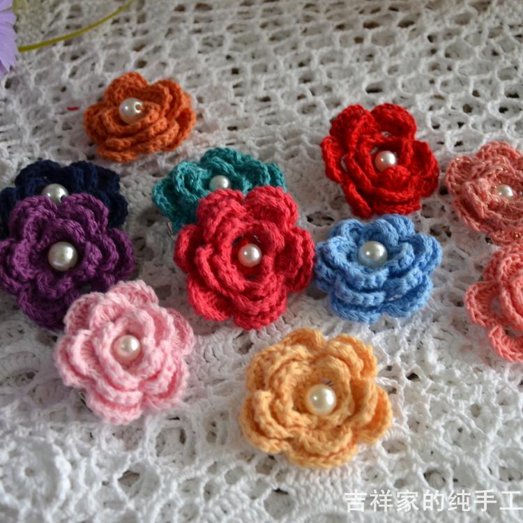 Crochet Hair Accessories Video : for girl crochet woven pattern hair accessory corsage hair accessory ...